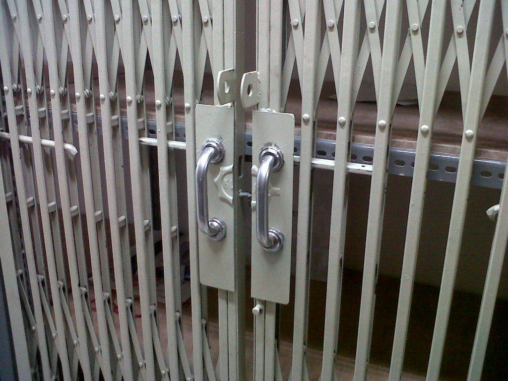 iron Accordion doors
