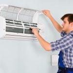 Man repairing air conditioning