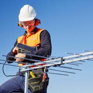 a man who set an antenna