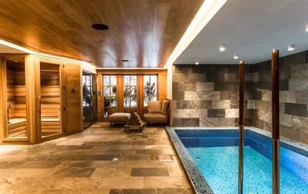 Swimming pool and sauna